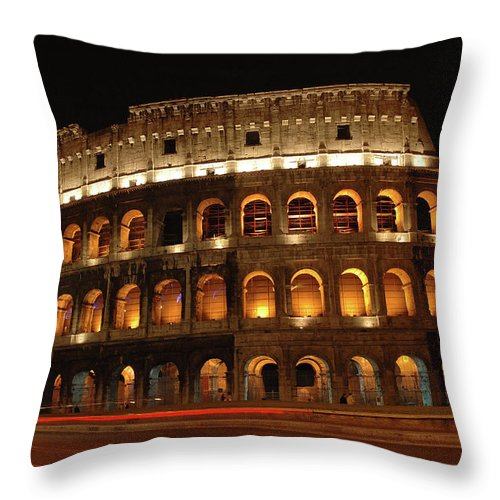 Rome Throw Pillow featuring the photograph Bring Back The Gladiators by George Buxbaum