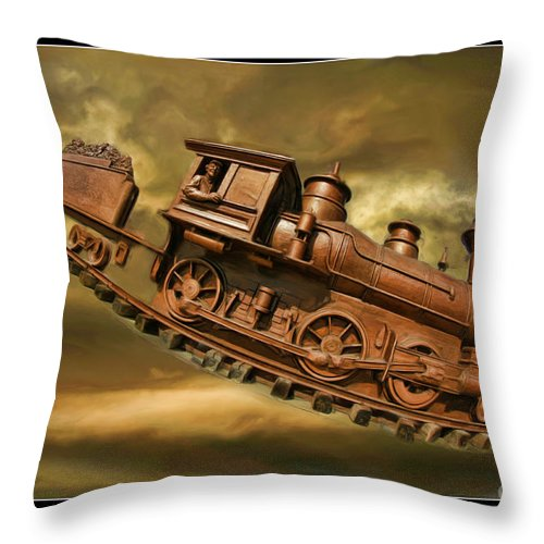 Bringhurst Special Throw Pillow featuring the photograph Bringhurst Special Train by Blake Richards