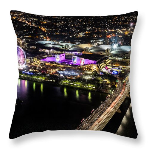 Australia Throw Pillow featuring the photograph Brisbane South Bank From The 32nd Floor by Silken Photography