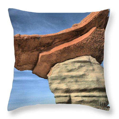 Stud Horse Point Throw Pillow featuring the photograph British Soldier Stone Hat by Adam Jewell