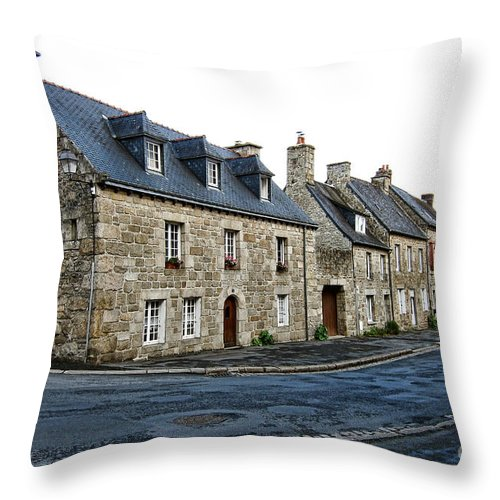 France Throw Pillow featuring the photograph Brittany by Olivier Le Queinec