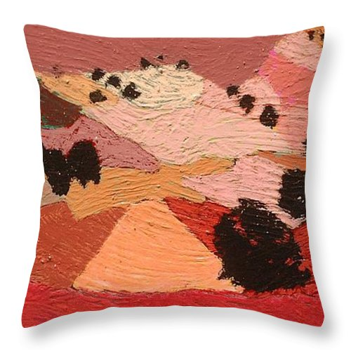 Landscape Throw Pillow featuring the painting Broad View by Allan P Friedlander