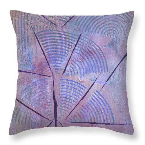 Bold Abstract Throw Pillow featuring the painting Broadcasting by Donna Blackhall