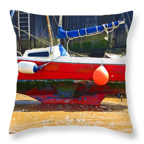 Broadstairs Throw Pillow featuring the photograph Broadstairs Harbour by Julia Hoefer-von Seelen