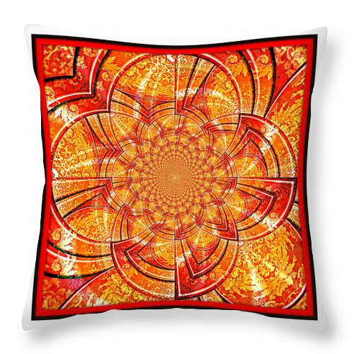 Kaleidoscope Throw Pillow featuring the digital art Brocade Abstract by Charmaine Zoe