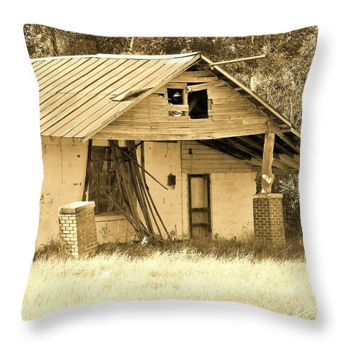 Throw Pillow featuring the photograph Broken by Chuck Hicks