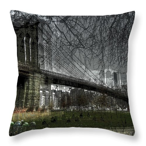 Brooklyn Throw Pillow featuring the photograph Brooklyn Shakes by Jeff Watts