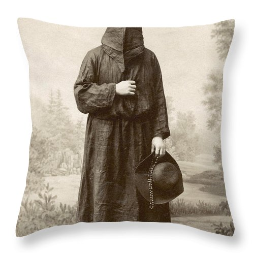 1890s Throw Pillow featuring the photograph Brotherhood Of Mercy by Granger