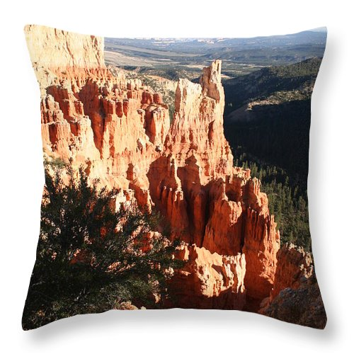 Canyon Throw Pillow featuring the photograph Bryce Canyon Landscape by Christiane Schulze Art And Photography