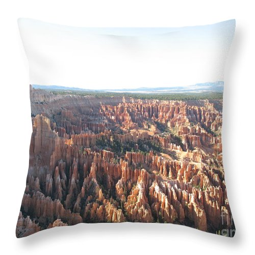 Rocks Throw Pillow featuring the photograph Bryce Canyon Scenic Overlook by Christiane Schulze Art And Photography