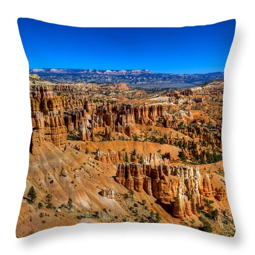 Bryce Canyon Throw Pillow featuring the photograph Bryce's Glory by Chad Dutson