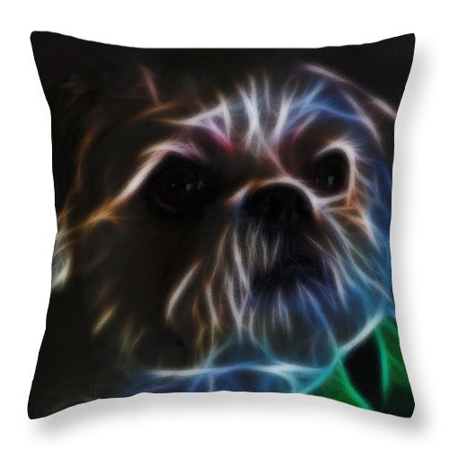 Digital Art Throw Pillow featuring the photograph Bubba 2 by Ericamaxine Price