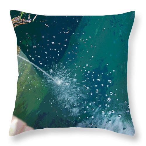Digital Art Throw Pillow featuring the photograph Bubble Abstract by Suzanne Gaff