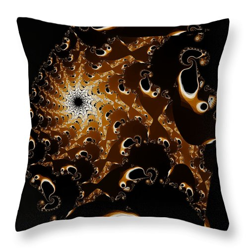 Bubbles Throw Pillow featuring the digital art Bubble Me Sly by Brian Haythorn
