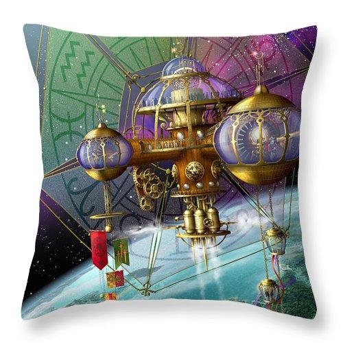 Ciro Marchetti Throw Pillow featuring the digital art Bubble Telescope by Ciro Marchetti