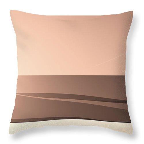 Mandelbrot Throw Pillow featuring the digital art Bubbles Of The Sun Adaptive by Brian Haythorn