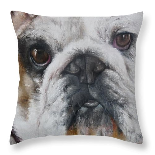 Bud Throw Pillow featuring the painting BuD by Cherise Foster