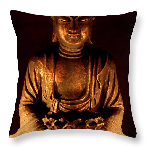 Buddha Throw Pillow featuring the photograph Buddha by Onyx Armstrong
