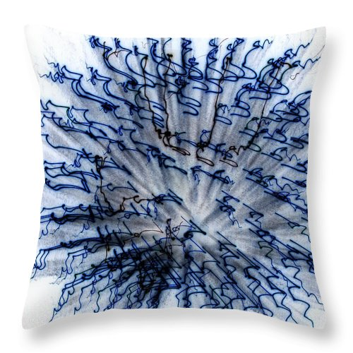 Abstract Throw Pillow featuring the photograph Buffy by Laurette Escobar