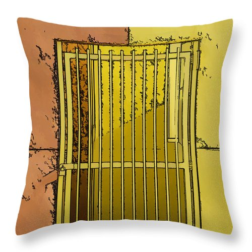 Colors Throw Pillow featuring the photograph Building Access Denied by J Michael Nettik