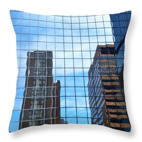 Glass Throw Pillow featuring the photograph Building With In A Building by Kathleen Struckle