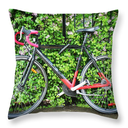 Bicycle Throw Pillow featuring the photograph Built For Speed I by Carlos Diaz