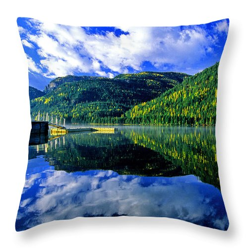 Bull Lake Throw Pillow featuring the photograph Bull Lake In Fall by Randy Beacham