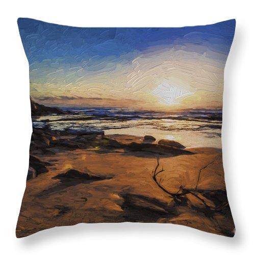 Bungan Beach Throw Pillow featuring the photograph Bungan Beach sunrise by Sheila Smart Fine Art Photography