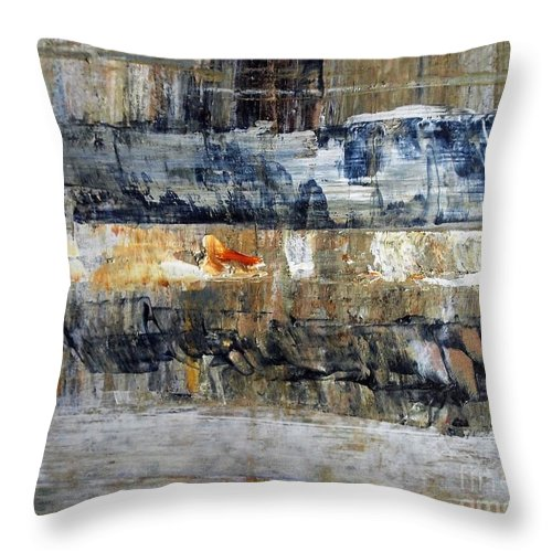 Abstract Painting Throw Pillow featuring the painting Buried Treasure by Nancy Kane Chapman