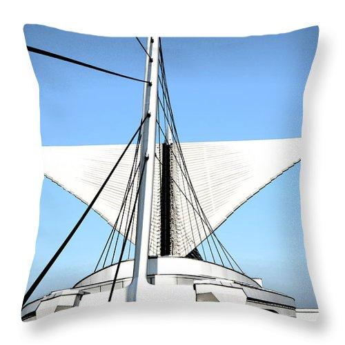 Burke Brise Soleil Throw Pillow featuring the digital art Burke Brise Soleil 1 by Susan McMenamin