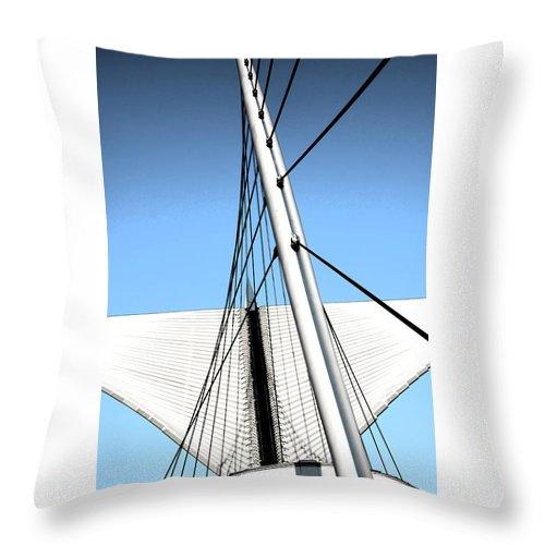 Burke Brise Soleil Throw Pillow featuring the digital art Burke Brise Soleil 2 by Susan McMenamin