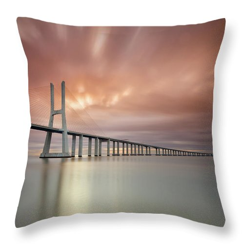 Tranquility Throw Pillow featuring the photograph Burn, Fire Burn by Landscape Photography