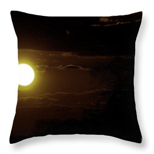 Sunset Throw Pillow featuring the photograph Burning Light by Four Hands Art