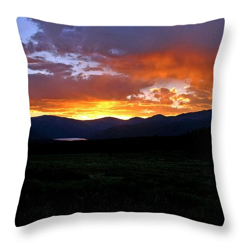 Sunset Throw Pillow featuring the photograph Burning Of Uncertainty by Jeremy Rhoades