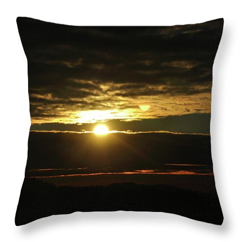 Clouds Throw Pillow featuring the photograph Burning Skies by Heather L Wright