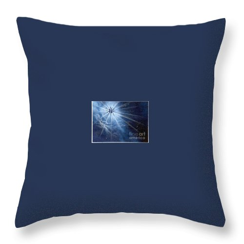Outerspace Throw Pillow featuring the painting Burst Of Light by Murphy Elliott