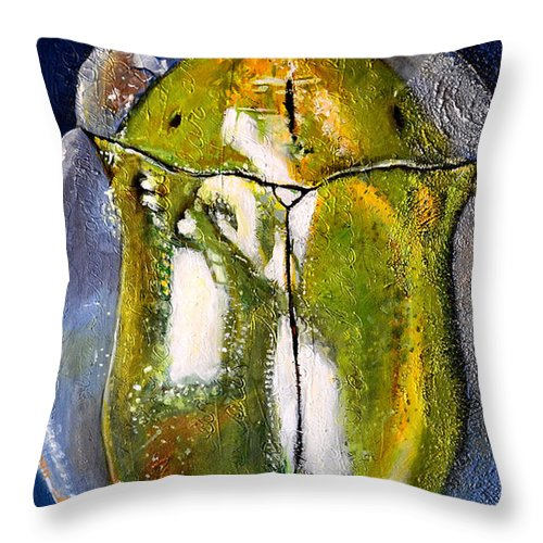 Bugs Throw Pillow featuring the painting Burt's Bug Iv by Shira Chai