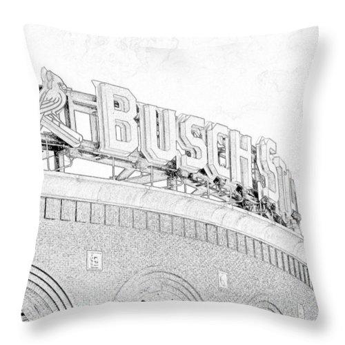 Busch Throw Pillow featuring the photograph Busch Sta Line by C H Apperson