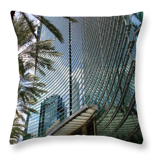 Business City Skyscraper Building Architecture Throw Pillow featuring the photograph Business by AR Annahita