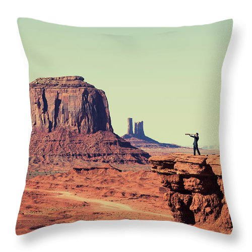 Corporate Business Throw Pillow featuring the photograph Business Vision by Richvintage
