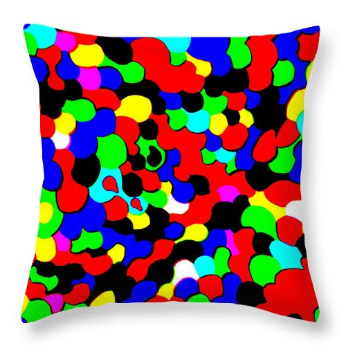 Colors Throw Pillow featuring the photograph Busy Heads by Christopher Rowlands