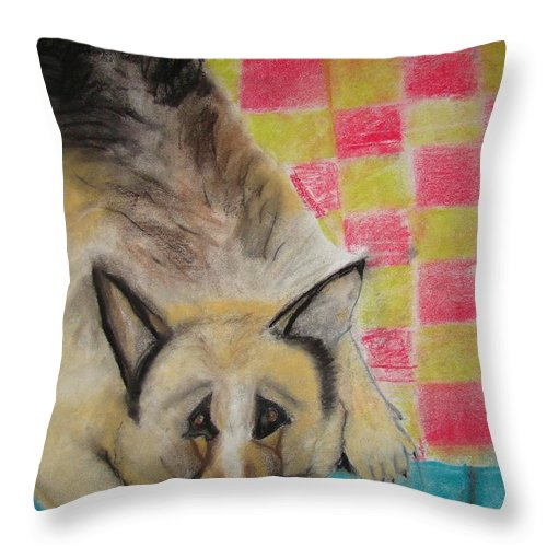 Fat Throw Pillow featuring the photograph But I Like It Up Here by Jon L