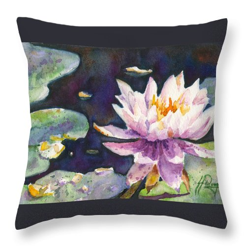 Lily Throw Pillow featuring the painting Butchart's Lily by John Dougan