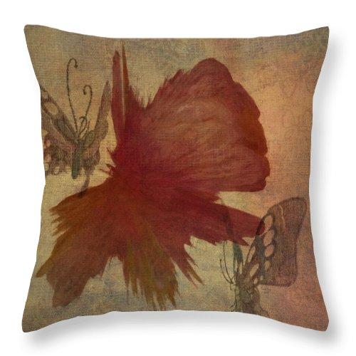 Flower Throw Pillow featuring the photograph Butterflower by Trish Tritz