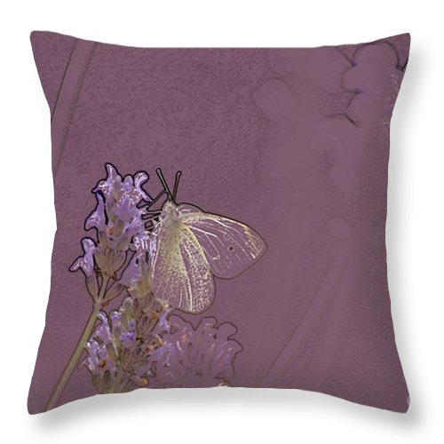 Butterfly Throw Pillow featuring the digital art Butterfly 1 by Carol Lynch