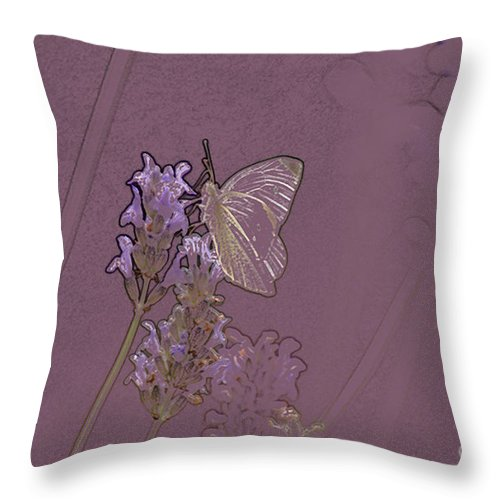 Butterfly Throw Pillow featuring the digital art Butterfly 2 by Carol Lynch