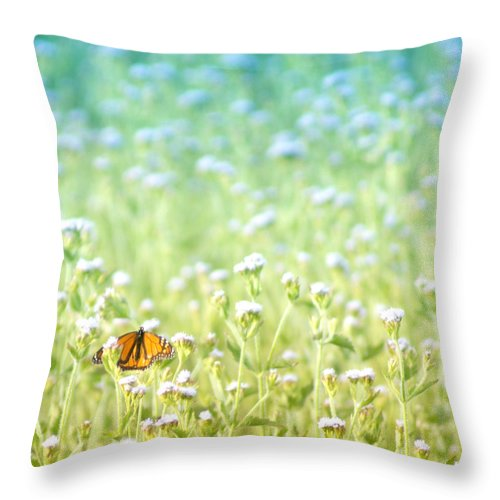 Butterfly Throw Pillow featuring the photograph Butterfly Dreams by Holly Kempe