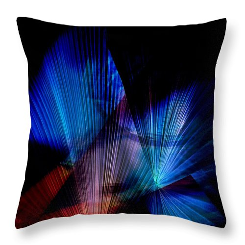 Butterfly Throw Pillow featuring the digital art Butterfly Kiss by David Derr