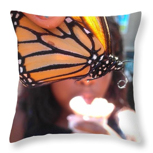 Butterfly Throw Pillow featuring the photograph Butterfly Love by Love Reyes