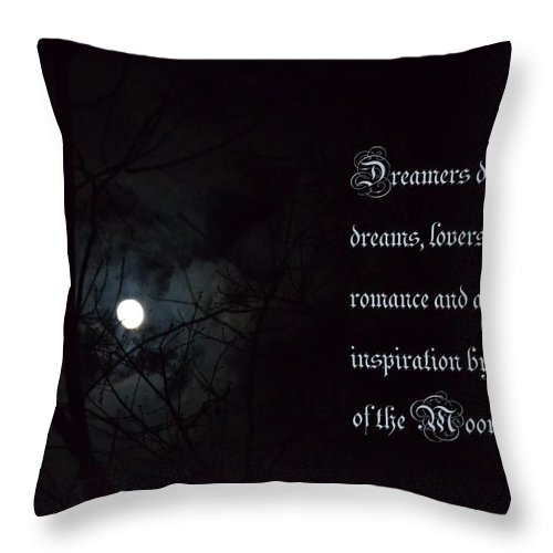 By The Light Of The Moon Throw Pillow featuring the photograph By The Light Of The Moon by Maria Urso